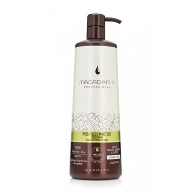 1000ml WEIGHTLESS MOISTURE CONDITIONER MACADAMIA