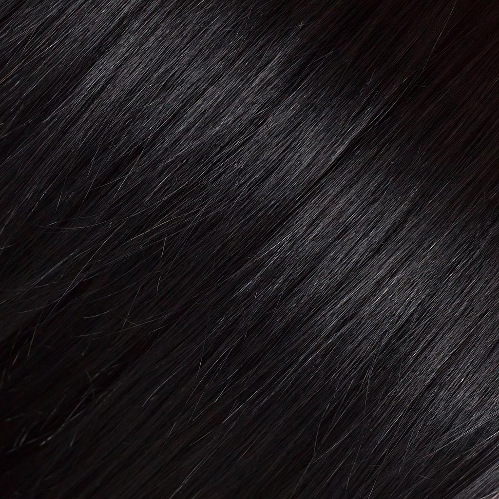 HAIR WEFT 100% HUMAN HAIR REMY, COLOUR 1